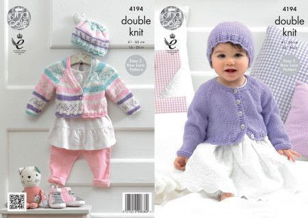 Cardigans and Hat in King Cole Cherished DK and Cherish DK (4194)