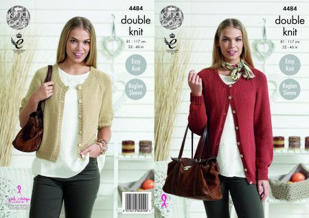 Cardigans in King Cole Bamboo Cotton DK (4484)