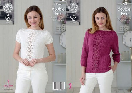 Sweater and Top in King Cole Glitz DK (4760)
