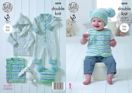 Baby Set in King Cole Cherish Dash DK and Cherished DK (4898)
