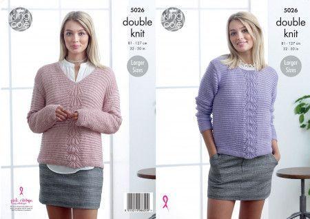 Sweaters in King Cole Glitz DK (5026)