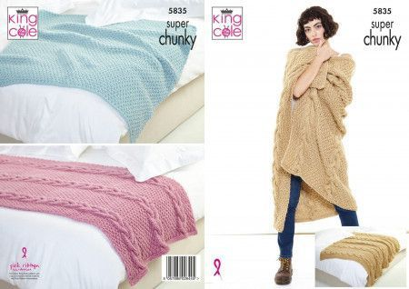 Throw and Runner in King Cole Big Value Super Chunky (5835)