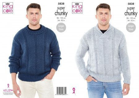 Sweaters in King Cole Big Value Super Chunky (5838)