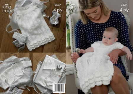 Christening Set in King Cole Comfort 4 Ply (3537)