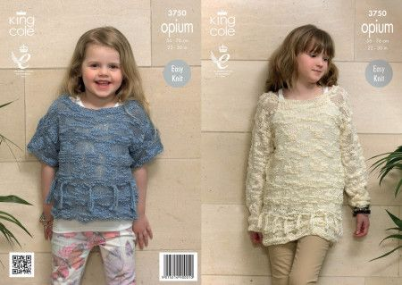 Sweaters in King Cole Opium (3750)