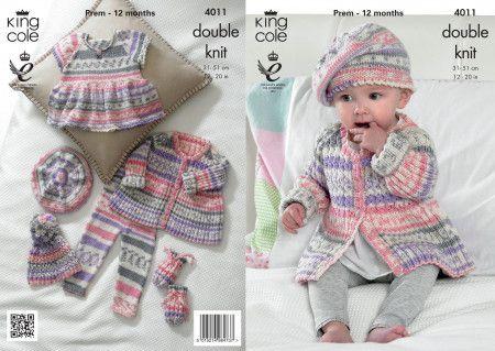 Baby Set in King Cole Cherish DK (4011)