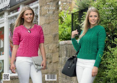Sweaters in King Cole Merino Blend DK (4075)