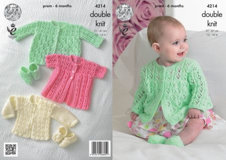 Coats, Cardigan and Shoes in King Cole Comfort Baby DK (4214)