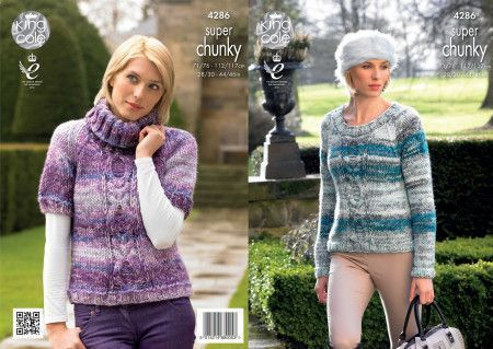 Sweaters in King Cole Big Value Super Chunky Tints (4286)