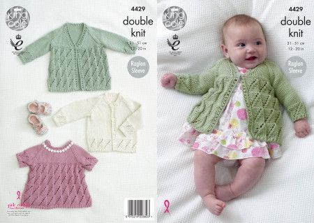 Coat, Top and Cardigan in King Cole Cottonsoft DK (4429)