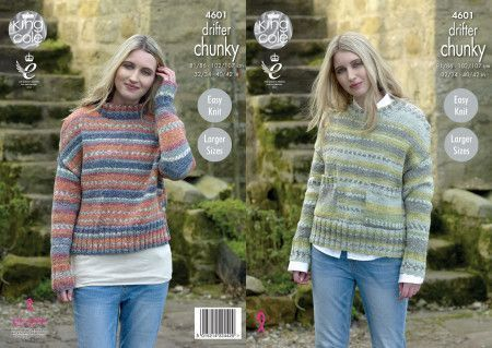 Sweaters in King Cole Drifter Chunky (4601)