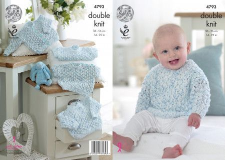Sweaters and Cardigans in King Cole Smarty DK (4793)