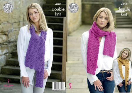 Snoods and Scarves in King Cole Timeless Chunky (4930)
