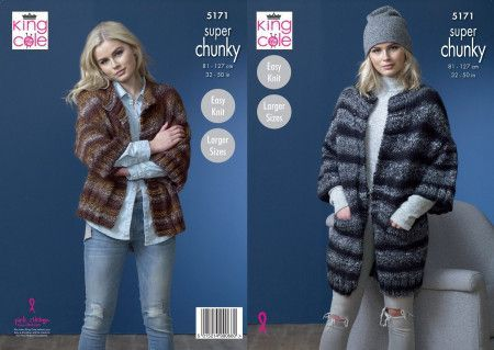 Jackets in King Cole Orbit Super Chunky (5171)
