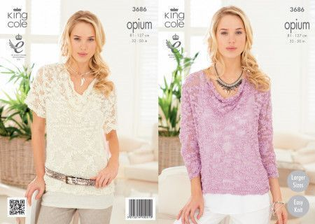 Sweaters in King Cole Opium (3686)