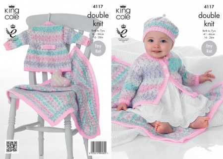Coat, Beret and Blanket Knitted in Splash DK and Big Value Baby DK (4117)