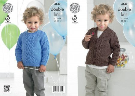 Sweater and Cardigan in King Cole Comfort Baby DK (4149)