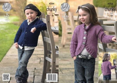 Cardigans in King Cole New Magnum Chunky (4284)