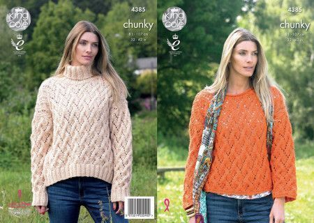 Sweaters in King Cole Big Value Chunky (4385)