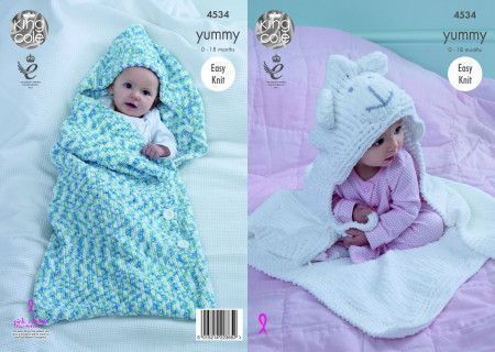 Cocoon and Blanket in King Cole Yummy (4534)
