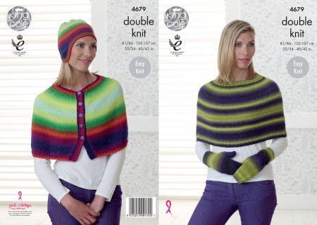 Capes, Hat and Mittens in King Cole Riot DK (4679)