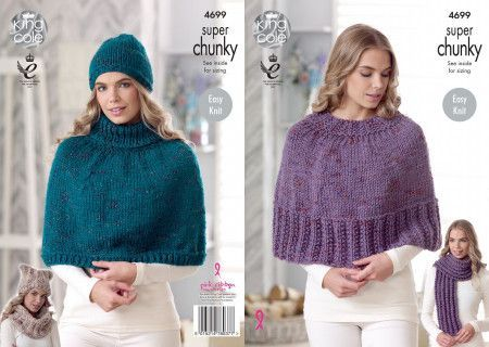 Capes, Hat, Scarf and Snood in King Cole Super Chunky Twist (4699)