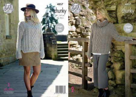 Ladies Sweaters in King Cole Indulge Chunky (4857)