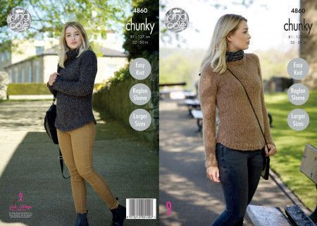 Ladies' Sweaters in King Cole Indulge Chunky (4860)