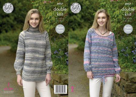 Sweaters in King Cole Drifter DK (4957)