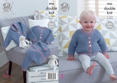 Cardigans in King Cole Comfort Baby DK (4965)