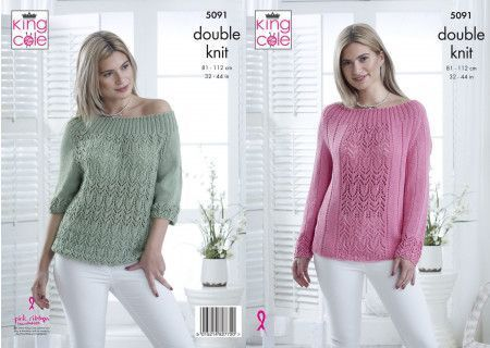 Sweater and Top in King Cole Bamboo Cotton DK (5091)