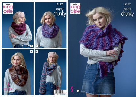 Snoods and Shawls in King Cole Orbit Super Chunky (5177)