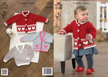 Jacket, Cardigan and Sweater in King Cole Comfort Aran (3722)