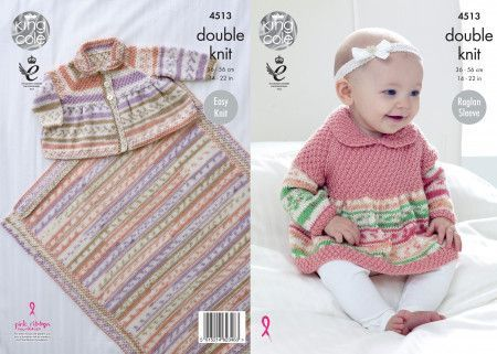 Sweater, Cardigan and Blanket in King Cole Cherish DK and Cherished DK (4513)