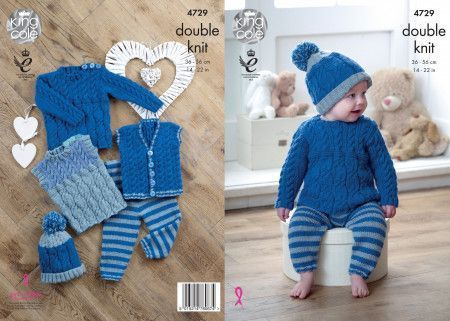 Baby Set in King Cole Comfort Baby DK (4729)
