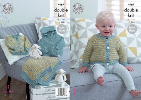 Jacket, Cardigan and Blanket in King Cole Comfort Baby DK (4967)