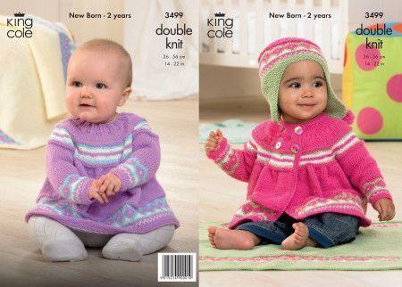 Jacket, Angel Top, Hat and Blanket in King Cole Comfort Baby DK (3499)