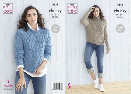 Sweaters in King Cole Subtle Drifter Chunky (5681)