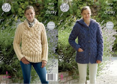 Jacket and Sweater in King Cole Big Value Super Chunky (4874)