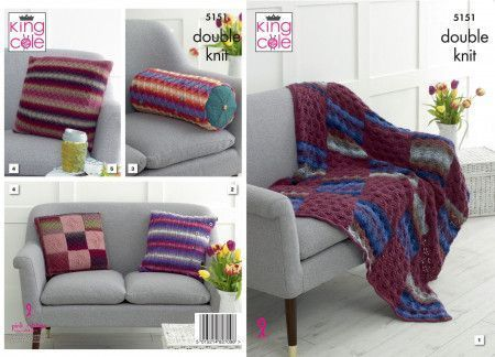 Interior Accessories in King Cole Riot DK and Panache DK (5151)