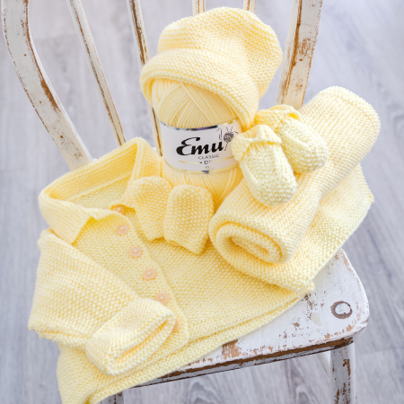 Emu Simple Five Piece Baby Gift Set - Lemonade Colourway
