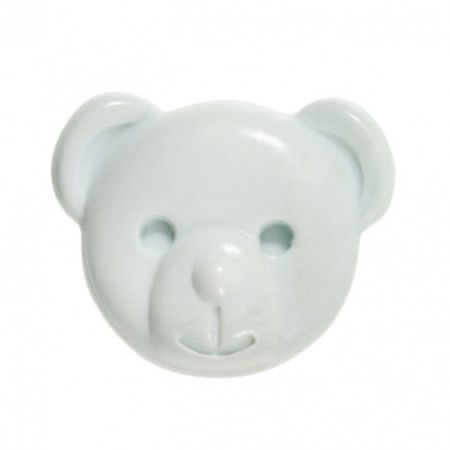 Milward Buttons - Size 15mm, Teddy Bear, Blue, Pack of 3