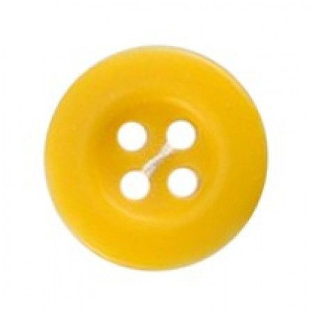 Size 12mm, 4 Hole, Yellow, Pack of 5