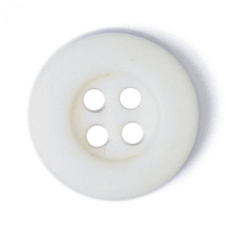 Size 10mm, 4 Hole, White, Pack of 6