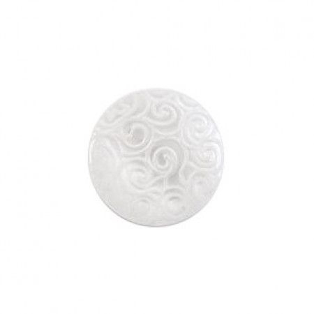 Size 11mm, Swirl Effect, White, Pack of 5