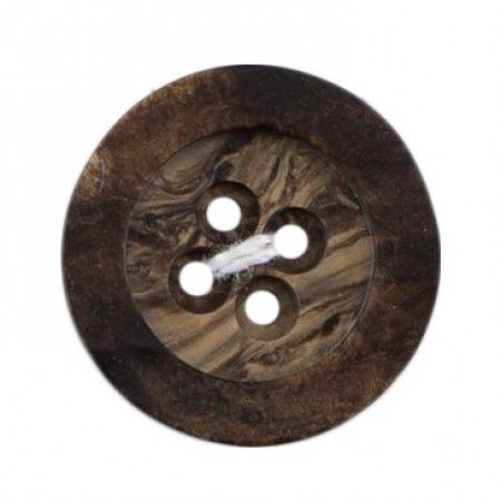 Size 22mm, 4 Hole, Wood, Brown, Pack of 2