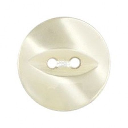Size 16mm, 2 Hole, Pearl Effect, Pearl Cream, Pack of 5