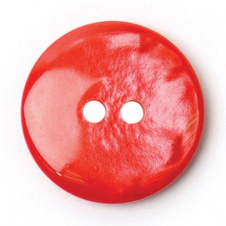 Size 19mm, 2 Hole, Porcelain Effect, Red, Pack of 4