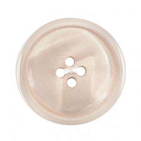Size 25mm, 4 Hole, Pearl Cream, Pack of 2