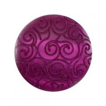 Size 15mm, Swirl Effect, Purple, Pack of 4